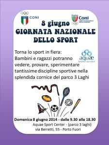 Giornata Nazionale dello Sport 8 Giugno 2014